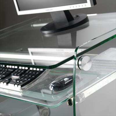 Mobili porta computer struttura in vetro clear for Mobili per computer