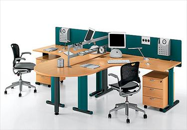 Scrivania Ufficio Faggio : Idea panel scrivania per ufficio in laminato e metallo